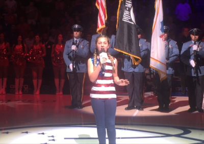 singing national anthem
